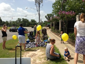 I enjoy sidewalk counseling surrounded by babies and balloons. :)